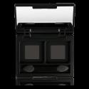 Freedom system dviejų skyrių makiažo paletė su veidrodėliu ir šepetėliu